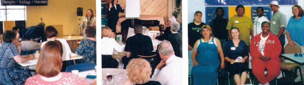 Community members in meetings